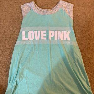 Teal Love Pink Tank Top